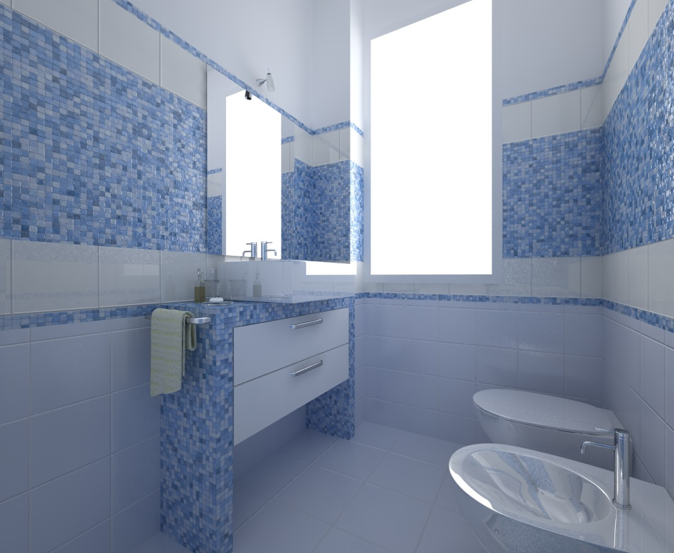 TryeCo 2.0  bathroom tiles and mosaics compositions render