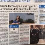 Articolo su Il Resto Del Carlino per la partecipazione al Drone Show di Marzo A Ferrara Fiere