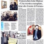 Articolo de Il Resto Del Carlino dell' 8 Marzo 2014 sulla visita del Ministro dei Beni Culturali Dario Franceschini a TryeCo 2.0