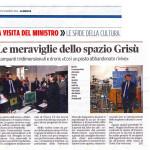 Articolo de La Nuova Ferrara dell' 8 Marzo 2014 sulla visita del Ministro dei Beni Culturali Dario Franceschini a TryeCo 2.0