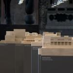 35 modelli sistemati sulla prospettiva centrale del salone guidano la vista all'esposizione
