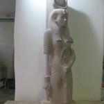 Dea Hathor prima della resa al vero