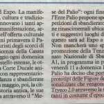 Articolo su Il Resto Del Carlino per la partecipazione alla Tenzone Aurea di Settembre con set di scansione dei figuranti del Palio