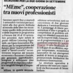 Articolo su Il Resto Del Carlino per la partecipazione al MEme a Settembre al Mercato Coperto di Ferrara